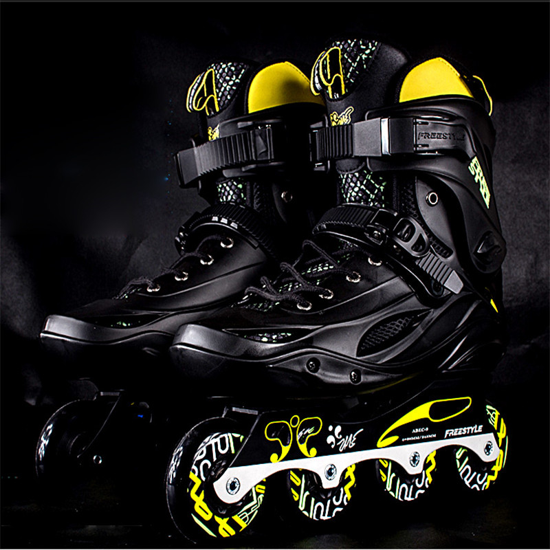 New Professional Slalom Inline Skates Street Brush Adult Roller Skating Shoe Sliding Free Style Skating Patine Adulto FS M3 IA95 reniaever double roller skates skating shoe gift girls black wheels roller shoe figure skates white free shipping
