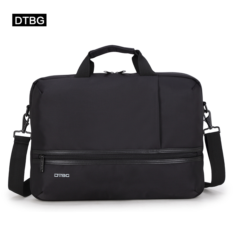 DTBG Laptop Business Bag Solid Black Office Messenger Bags Briefcase Men  Women Suitcase Computer Sac For 15.6 Inch Notebook Sac a79dae068085b