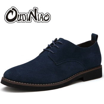 Faux Suede Lace UP Men's Shoes