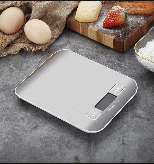 Balance de Cuisine électrique plate-forme avec écran LCD cuisson alimentaire Cuisine Balance postale Balance outils de cuisson 3