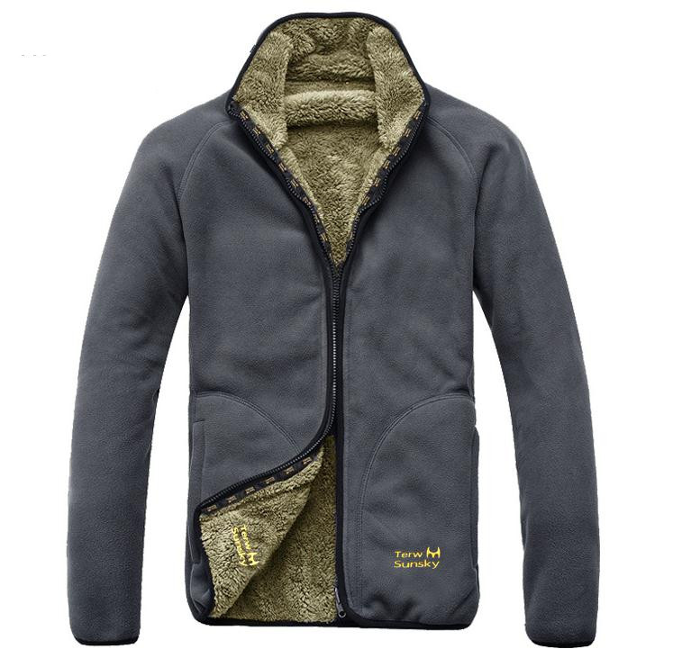 7e2cc42b8 Tops Autumn Winter Coat Man reversible style Thicken with Plush Fleece  Jackets cardigan coat Men OUTERWEAR-in Jackets from Men s Clothing on  Aliexpress.com ...
