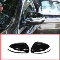 2Pcs Glossy Black ABS Car Rearview Mirror Cap Cover Trim For Mercedes Benz C w205 E W213 GLC Class X253 S Class w222 For LHD