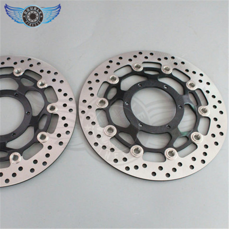 2 pieces motorcycle Front Brake Disc Rotor for Honda CBR600RR 2003 2004 2005 2006 2007 2008 2009 2010 2011 2012 2013 2014 kemimoto 2007 2014 cbr 600 rr aluminum radiator grille grills guard cover for honda cbr600rr 2007 2008 2009 2010 11 2012 13 2014