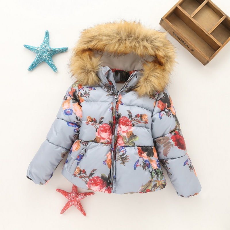 YNB Children Baby Girls Cotton Coat Kids Winter Thicken Clothes Girls Keep Warm Jacket Brand New Print Wind Coat fits 2~10Years children winter coats jacket baby boys warm outerwear thickening outdoors kids snow proof coat parkas cotton padded clothes