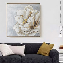beautiful flower hand painting wall art without frame 60cm(China)