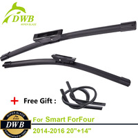 Wiper Blades For Smart ForFour 2014 2016 20 14 2pcs Front Wipers High Quality ISO9001 Natural