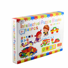 Free shipping DIY children educational puzzles, Kids 140 piece of the intellectual puzzle toys,