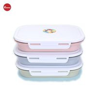 New Stainless Steel 4 Grid Kids Students School Lunch Boxes Hot Water For Heating Food Fruit