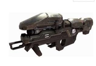 Modèle de papier 3D pistolet à souder Laser