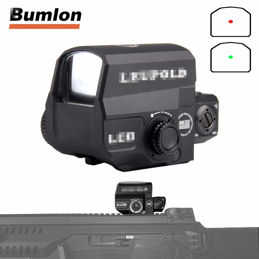 Tactical LCO Red Dot Sight Scope Reflex Sight with 20mm Rail Mount Holographic Sight for Hunting Airsoft 5-0038 tactical reflex red green dot sight scope w dual high low profile rail mounts airsoft hunting