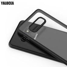 Silikon Kılıfları Için Samsung S10 Artı Kılıf Yumuşak TPU Çerçeve Sert PC Şeffaf Kapak Için Samsung Galaxy S10 Artı Kılıf kabuk ...