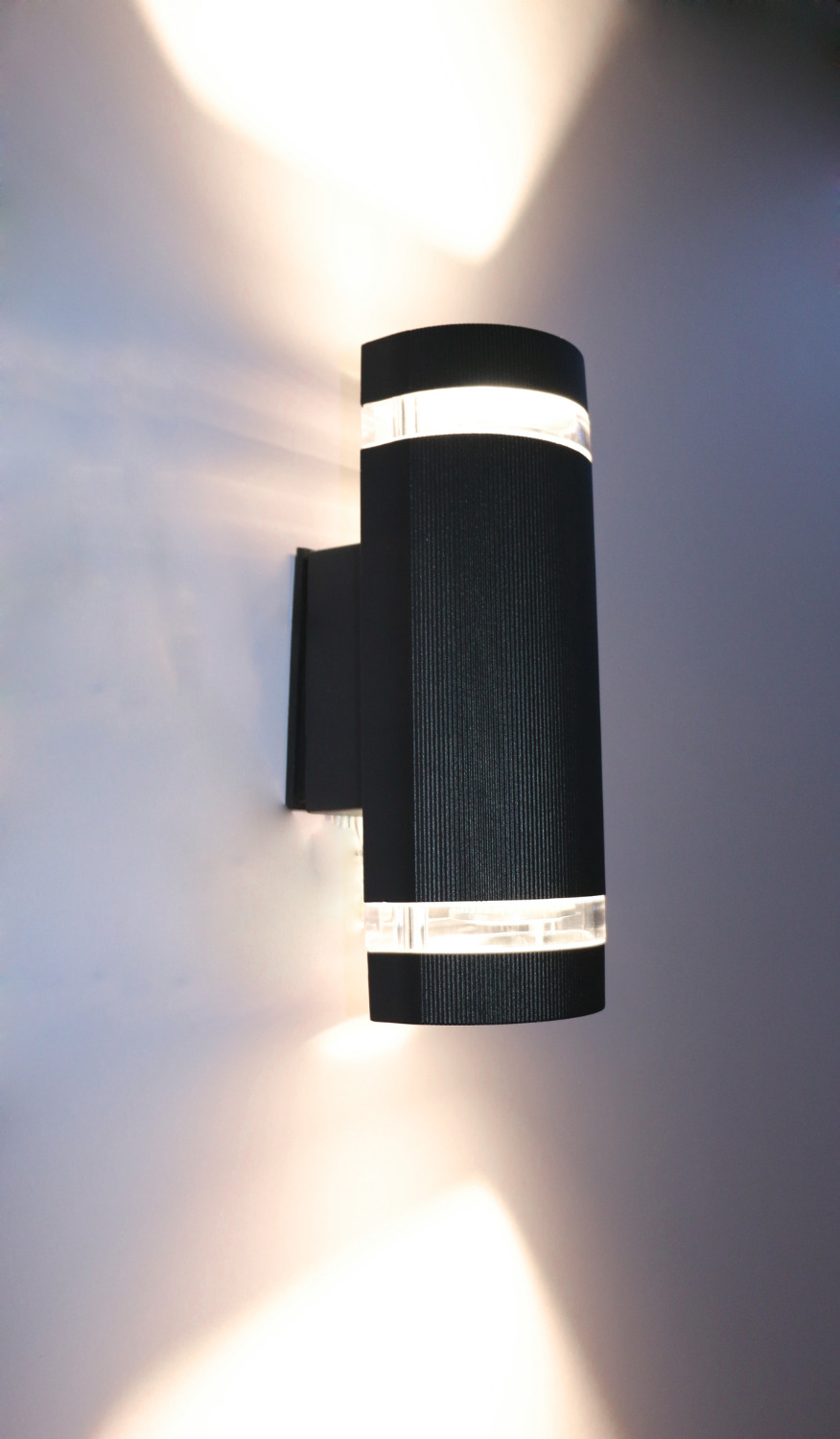 semi cylinder up down indoor outdoor exterior wall light sconce lamp fixture kit waterproof ip65. Black Bedroom Furniture Sets. Home Design Ideas