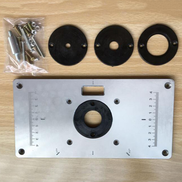 High quality 1pc 235mm120mm8mm router table insert plate with 4pcs high quality 1pc 235mm120mm8mm router table insert plate with 4pcs insert rings greentooth Images