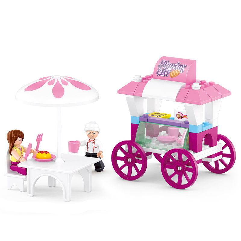 0522 SLUBAN Girl Friends Bread Dining Car Model Building Blocks Classic Enlighten DIY Figure Toys For Children Compatible Legoe christina fitzgerald инструмент для удаления кутикулы precision