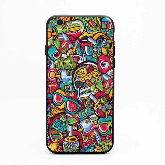Us 1 64 34 Off Vexx Wallpaper Phone Cases Tpu Pc Black Covers For Iphone X 6 7 8 Plus 5 5s 6s Se For Apple X Best Diy Case In Half Wrapped Cases