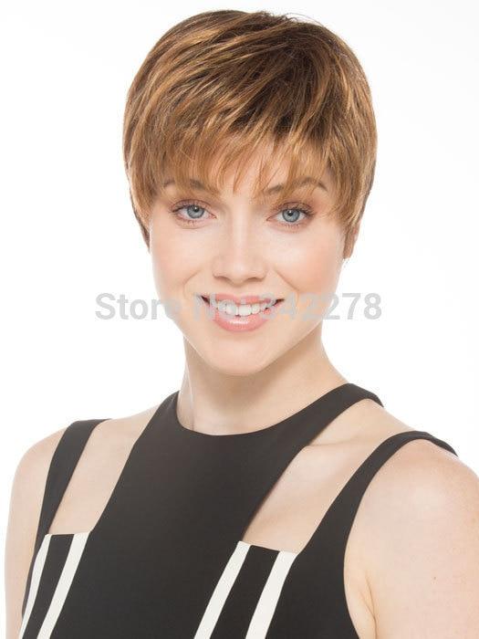 moda de las nuevas mujeres con estilo para mujer corte peinado pelucas sintticas corto ondulado pelo pelucas para americanos europeos sinteticas perruqu en