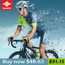 2018 Santic Summer Cycling Clothing Set Jersey Clothes Bib Shorts Men MTB Bike Pro Team Maillot Downhill Bycicle