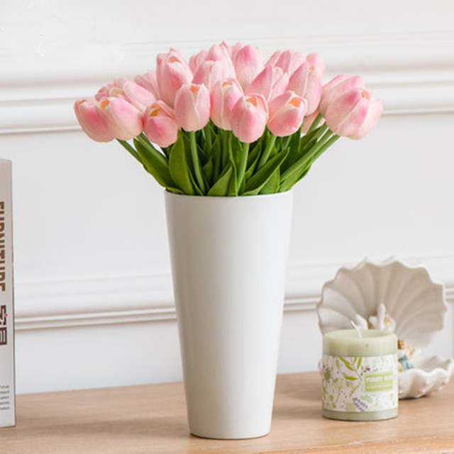 10pcs pu tulip artificial flowers for wedding decoration living room 10pcs pu tulip artificial flowers for wedding decoration living room table decorations ornaments fake flower home junglespirit Images