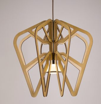 Modern fashion brief Ply-Wood chips Chandelier handmade E27 LED lamp indoor lighting for porch&living room&corridor BT254-300