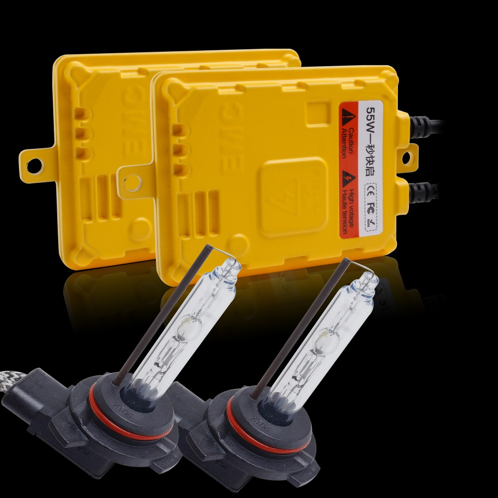 Xénon Slim 12 V 55 W HID Kit de Conversion xénon rapide lumineux 9012 (HIR2) 5500 K 6500 K HID kit xénon pour phare de voiture