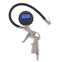 Digital Tire Inflator with Pressure Gauge   Hose and Chuck Clip for Car Van Truck Motorcycle Bike