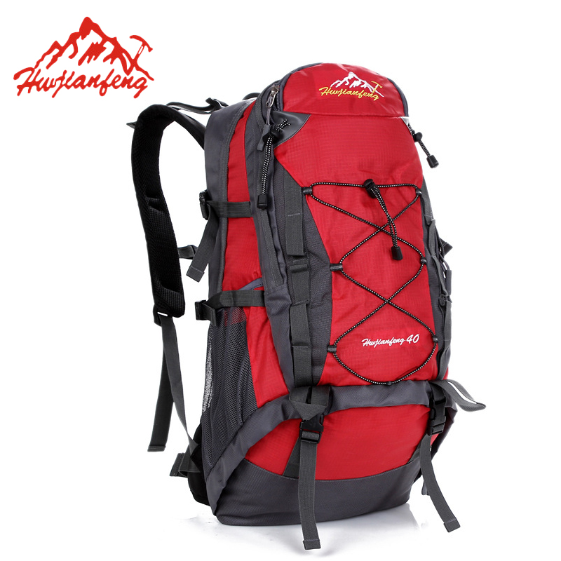 40L Waterproof Outdoor Mountaineering Bag Backpack Men Women Travel Sports Hiking Trekking Camping Backpack Rucksack HAB065 outdoor mountaineering bags cycling backpack shoulder bag men and women student trekking travel bag camping equipment 40l