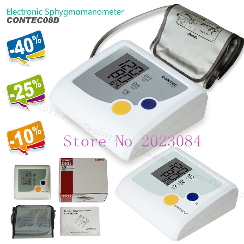 Digitale Blutdruckmessgerät Herzschlag Pulsfrequenz Nibp Meter Lcd Contec08d Contec Ordentlich Gefördert Schönheit & Gesundheit