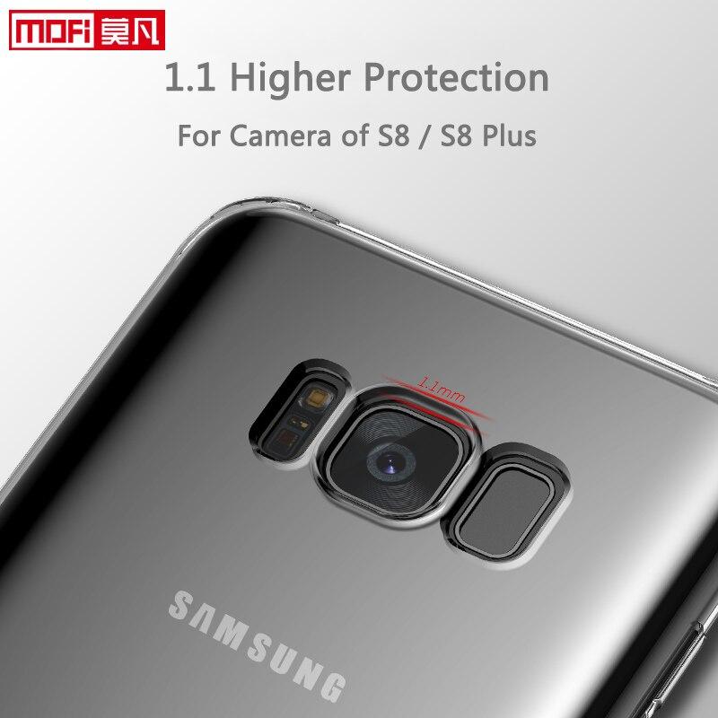 Para Samsung Galaxy S8 silicona suave MOFI original ultra claro para Samsung S8 S8 + 6.2 Galaxy S8 Plus caso