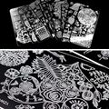 2019 YZWLE Nail Stamping Plates Lace Flower Animal Pattern Nail Art Stamp Stamping Template Image Plate Stencil Nails Tool