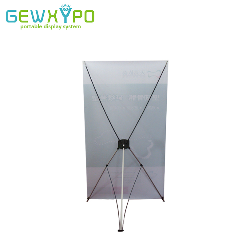 Hot Sale 10PCS High Quality Large Size 120*210cm Korea Aluminum Portable Advertising X Banner Stand,Trade Show Durable X Display