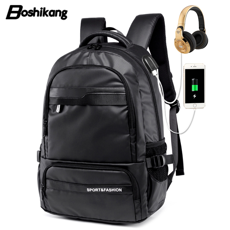 Boshikang Men Backpack Waterproof 15.6 Inch Laptop Backpack Men Usb Charge Travel Bag Men Casual Daypacks Mochila Male