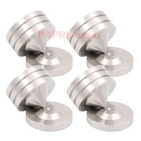 PAPRI 4PCS 49x49MM 304 Stainless Steel Feet Spikes Amplifier DAC Turntable Stands Bracket Feet Pads