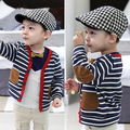 2017 осень верхняя одежда ребенка кардиган мальчиков ребенок патч 100% хлопок с длинным рукавом вязаный свитер