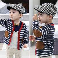 2014 Autumn Outerwear Child Cardigan Baby Boys Child The Patch 100 Cotton Long Sleeve Sweatshirts