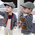 2017 outono outerwear criança cardigan bebê meninos criança o patch 100% algodão-manga longa camisola de malha
