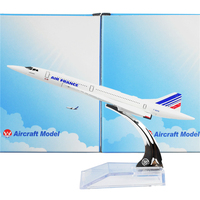 The Air France F BVFB Concorde 16cm Metal Airplane Models Child Birthday Gift Plane Models Free