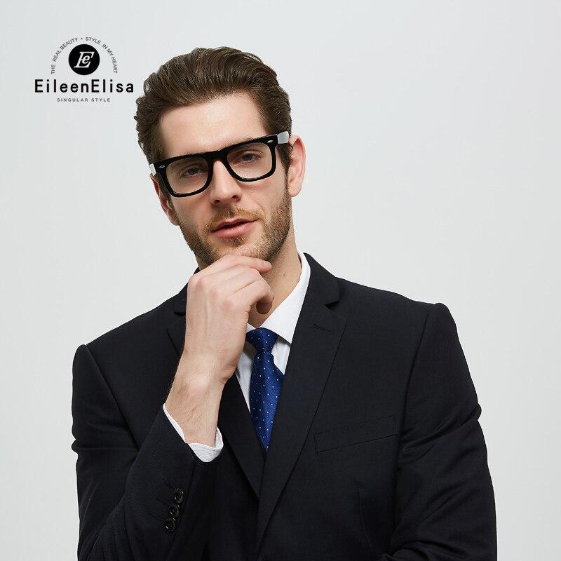 2019 Fashion Glasses Frame Men Black Eyeglasses Frame Vintage Square Clear Lens Glasses Optical Spectacle Frame