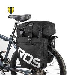 3 w 1 wielofunkcyjna torba rowerowa Road MTB torba na rower górski rowerowa torba na tylne siedzenie 30L