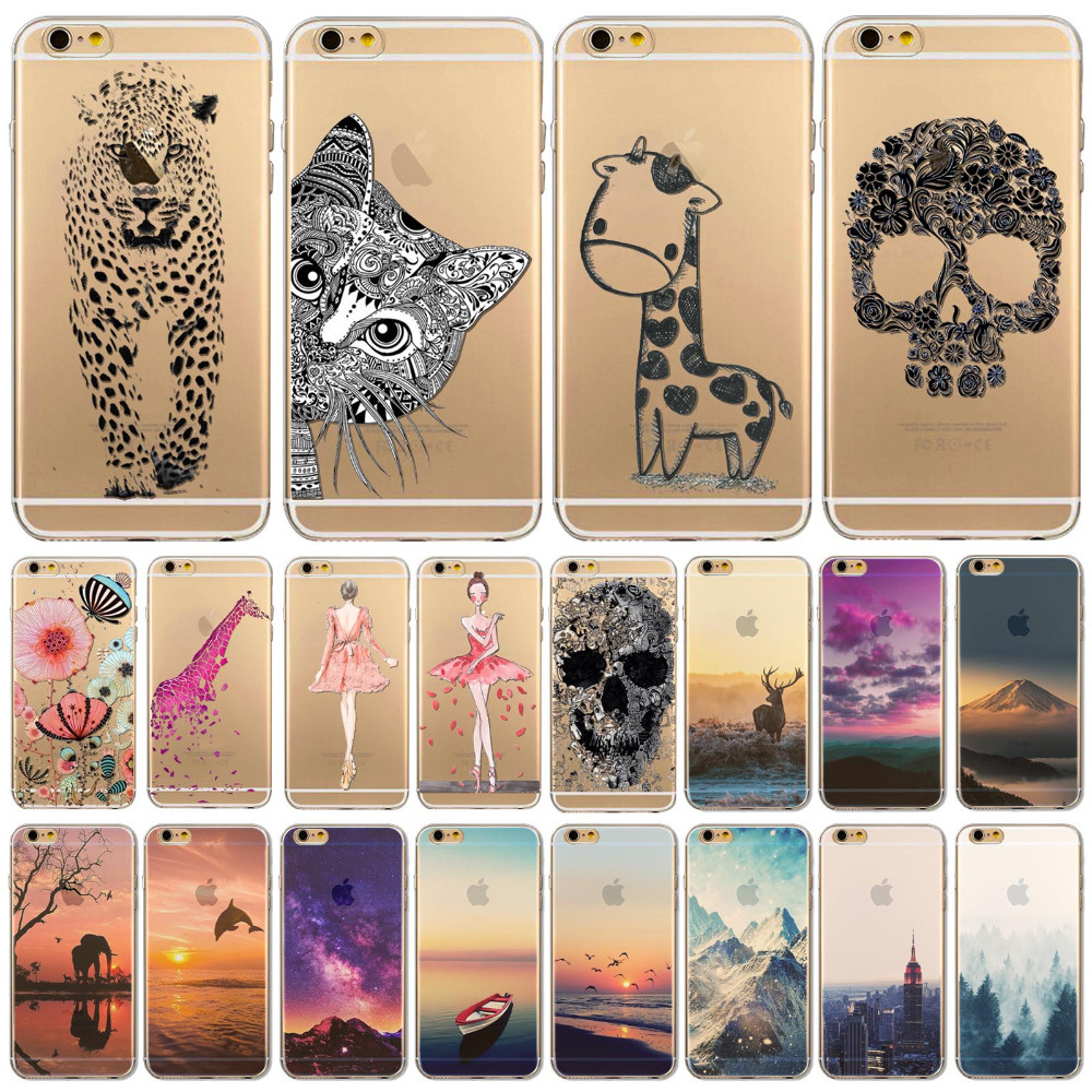 Fundas phone case cover for iphone 6 6s 4 7 ultra soft for Design a case