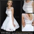 Новый 2016 Белый Короткие Свадебные Платья Невесты Сексуальные Кружева свадебное Платье Свадебное Платье Плюс Размер Свадебные Vestido Де Noiva Mariage