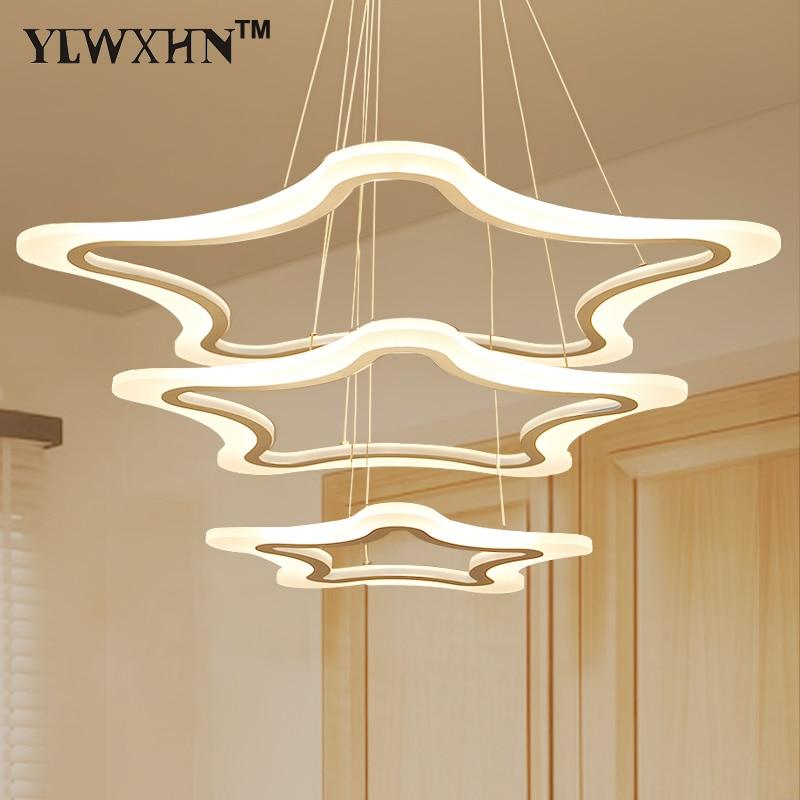 Luminaire Pendant Light Levou Lamp Para Sala De Estar Da Jantar 3/2/1 An Is Tri Ngulo Acr Lico Corpo de Alum Nio