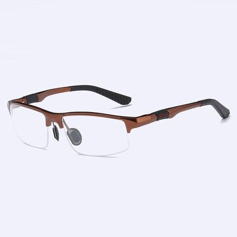 3121 Optical Eyeglasses Frame for Men Eyewear Prescription Glasses Half Rim Man Spectacles Alloy Frame Eyeglasses Islamabad