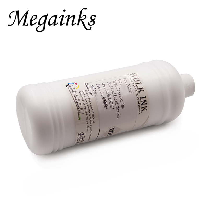 500ML Dtg White Textile Ink for for Roland for Mimaki for Mutoh DX3 DX4 DX5 DX6 DX7 Printhead & Digital Flatbed Inkjet Printer