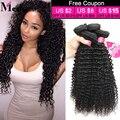 Grado 8A Pelo Virginal Rizado Pelo Brasileño Sin Procesar Pelo Virginal Brasileño Rizado Barato Kinky Curly Hair Weave Bundles 8-28 Pulgadas