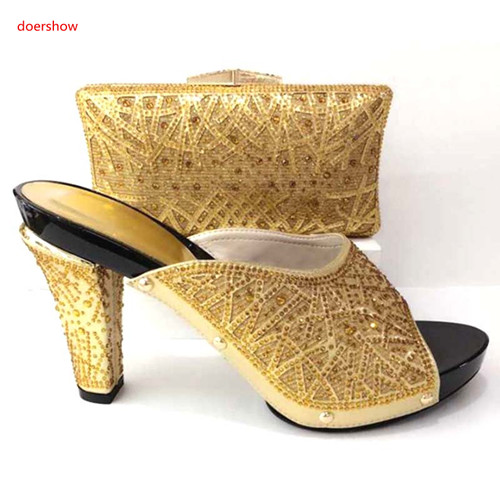doershow African Style Shoe And Bag To Match High Quality Italian Shoes and Bag Set Nigerian Party Shoe and Bag Set party HA1-28 capputine african style shoes and bag to match high quality italian shoes and bag set nigerian party shoe and bag set wedding
