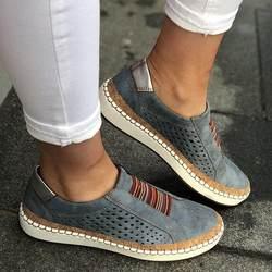 Женская летняя повседневная обувь; ручная работа; полосатая дышащая эластичная лента в стиле ретро; женская обувь на плоской подошве