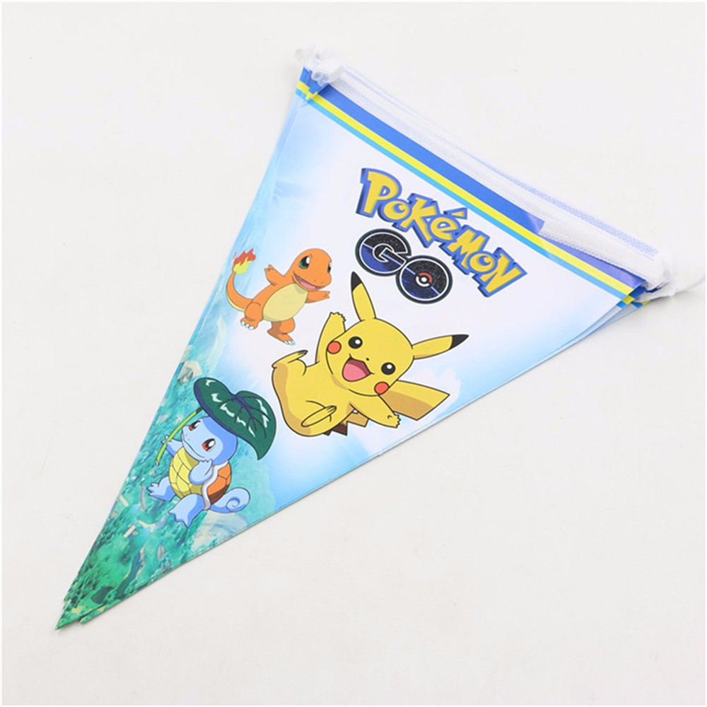 10pcs Baby Shower Pokemon bungo Cartoon Decoration Kids Favors Disposable Pikachu Paper Invitation Cards Birthday Party Supplies