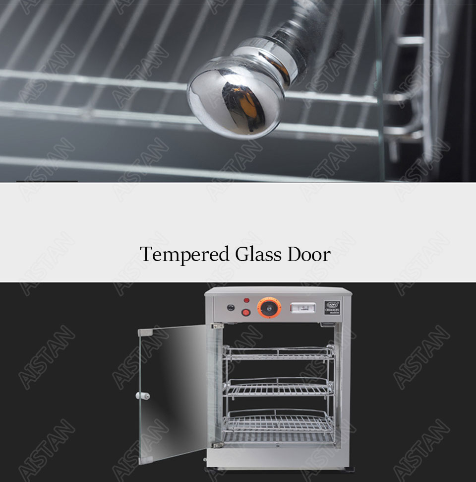 DH1P Commercial Countertop Electric Stainless Steel snack bread pizza Food Warmer Display Showcase 6