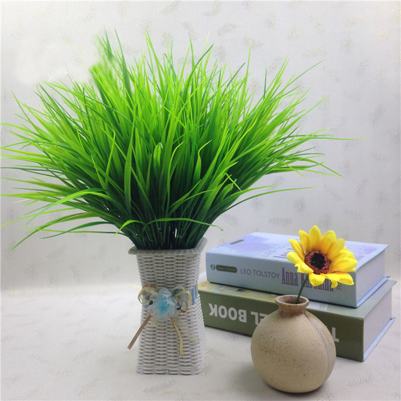1PC Green Plant Potted Plant Plastic Simulation Grass 7 Fork Spring Grass Plants For Plastic Flowers Household Store Decoration1PC Green Plant Potted Plant Plastic Simulation Grass 7 Fork Spring Grass Plants For Plastic Flowers Household Store Decoration