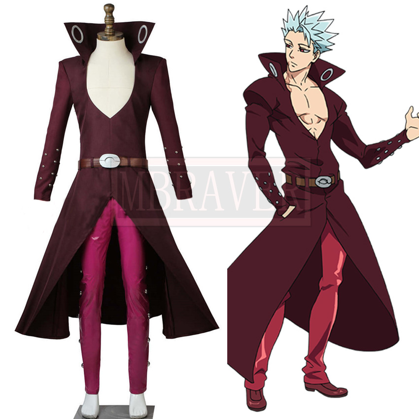 Anime The Seven Deadly Sins Ban Cosplay Costume Fox's Sin of Greed Ban Halloween Costumes Custom Made Any Size